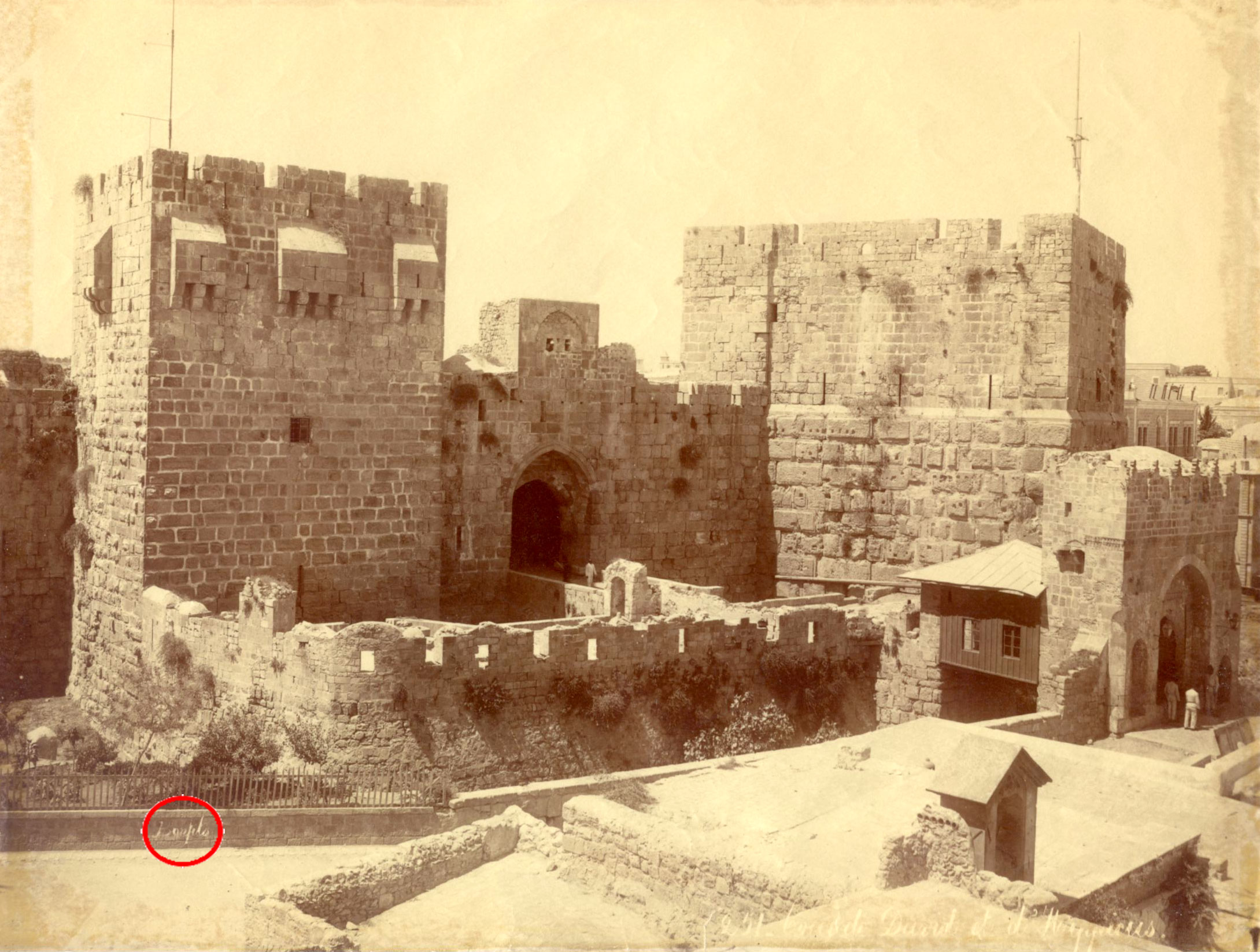 Tower of David and Hippicus by Felix Bonfils ca. 18870 - click to enlarge.