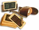 Wooden Holms Stereoscope with a set of 23 Crystallographic...