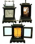 Frodsham Silent Library Timepiece - Early 19th Century Ebonized C...