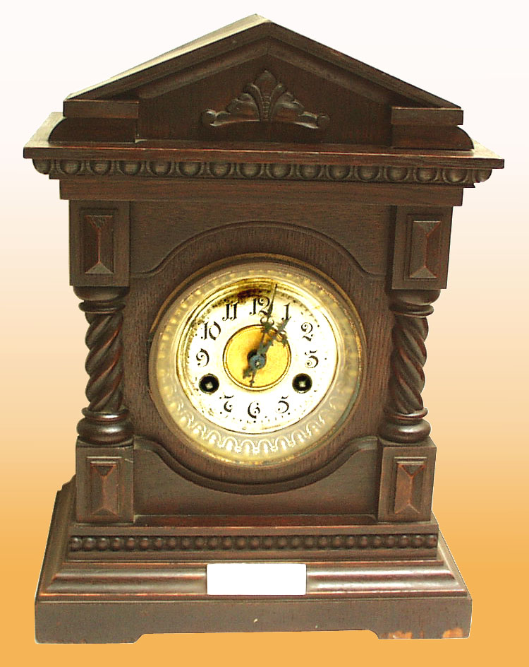 German Cathedral Mantle Clock by Junghans 1904 - click to enlarge.