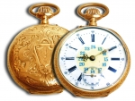 14k Golld Breguet Pocket Watch With.Rubis And Perfect Mechanism...