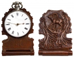 A Very Fine German Boxwood Holder For A Single Pocket Watch.