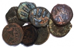A Treasure Lot Of 8 Prutah From King Agrippa 1st Minted...