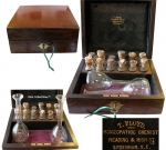 Homeopathy Set of 12 Vials and Two Flasks.