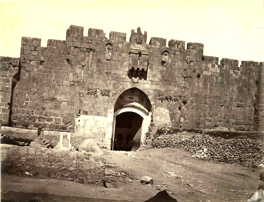 St. Stephen's Gate Jerusalem circa 1870 - click to enlarge.