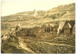 Photochrome of the Valley of Jehosaphat Jerusalem
