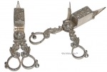 Very Ornate Silver Plated Candle Snuffers