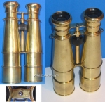 German Brass Military Binoculars.