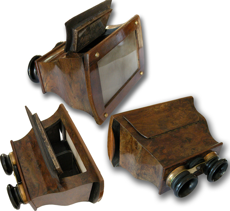 Brewster Stereoscope Mahogany 19th Century  - click to enlarge.