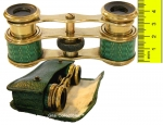 Enamel and Brass Opera Glasses with Original Case.
