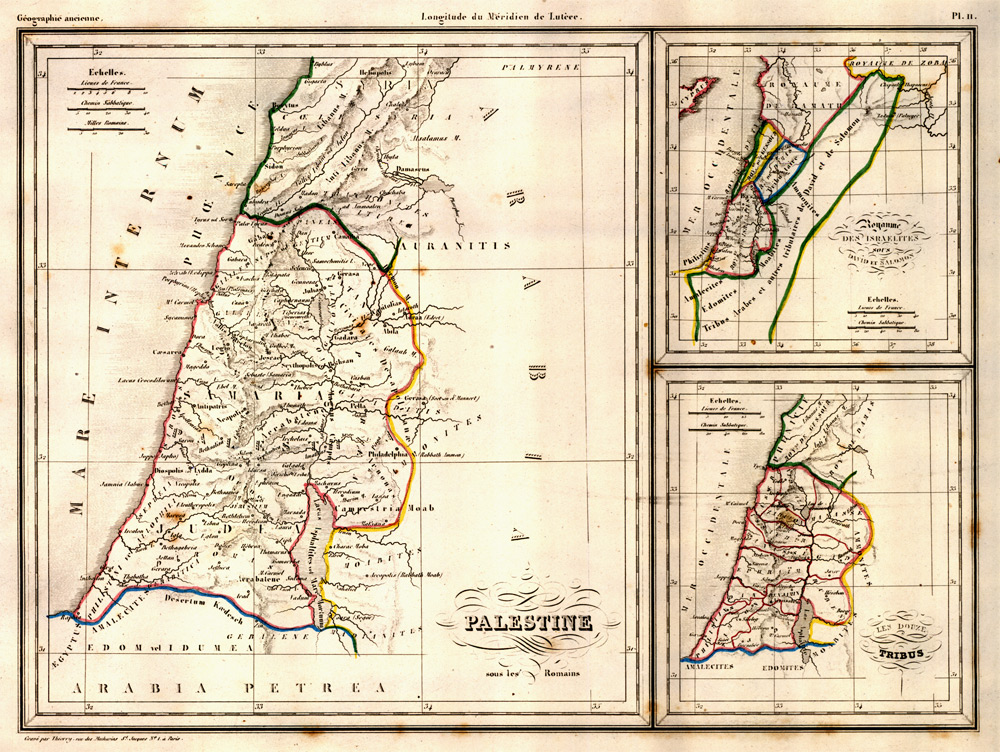 Palestine by Malte-Brun, Paris, circa 1835 - click to enlarge.