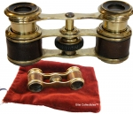 Opera Glasses Leather and Brass