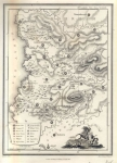 Map of the Trible Area of Dan 1812. (South Eastern Israel)