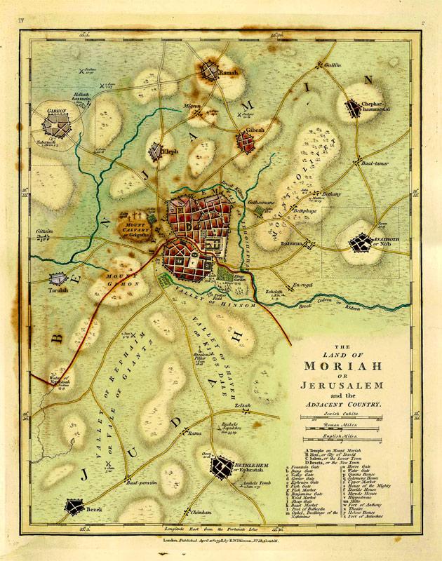 Wilkinson Map Of Jerusalem The Land Of Moriah Or Jerusalem - Robert wilkinson map of the us