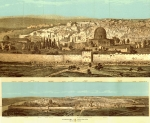Panoramic Engraved Photograph of Jerusalem 1876