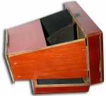 English Folding Stereoscope Made of Wood with 8 Stereo...