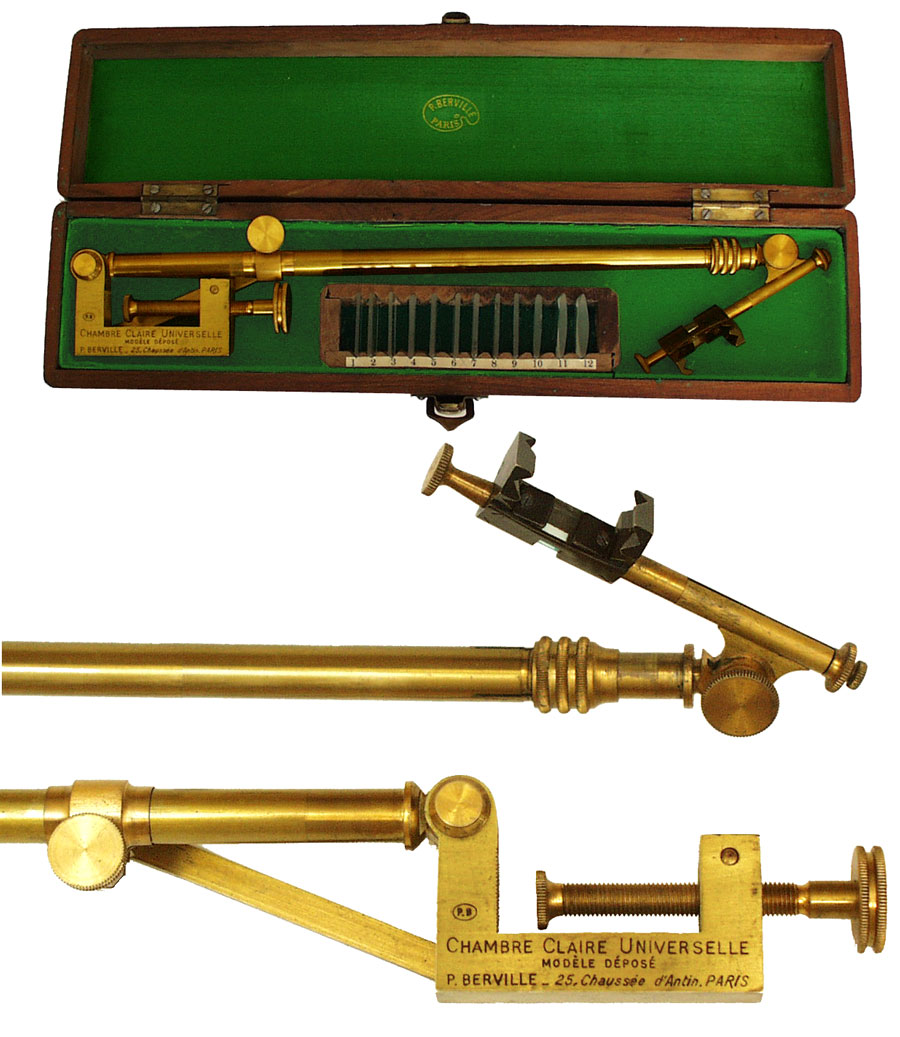 19th century french camera lucida by berville gilai for Chambre claire berville