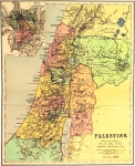 Map of Palestine 1896. Drawn, Engraved and Printed by Johnson,...