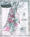 Map of Palestine 1862. Published by Johnson and Ward U.S.A.