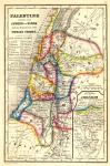 Biblical Map of Palestine under the Judges and Kings 1864....