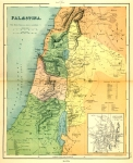 Map of Palestine 1873 Published by Marcus Ward & Co. Belfast.
