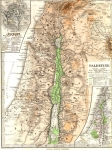 Map of Palestine, 1880. Drawn by Berghaus and Published...
