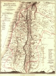 Map of Palestine 1850. Made by Petermann and Dower, Published...