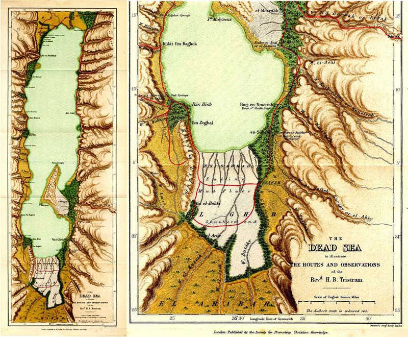 Tristram Map of the Dead Sea 1866. - Gilai Collectibles on mediterranean sea, strait of hormuz map, death valley, black sea map, gulf of aqaba map, suez canal on map, red sea, black sea, gulf of aden map, gulf of oman map, sea of galilee map, israel map, aral sea, negev desert map, salton sea, mariana trench, haifa map, red sea on map, mount everest, southwest asia map, caspian sea map, egypt map, empty quarter map, bosporus map, great salt lake, mediterranean map, jordan map, jordan river, aegean sea map, caspian sea, sea of galilee, western wall, jerusalem map, tel aviv,