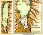 Tristram Map of the Dead Sea 1866.