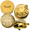 WWI Military Brass Pocket Sextant by Hughes & Son London.