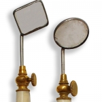 Set Of Two Ivory Handle Dental Mirrors.
