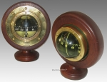 Sestrel Marine Bulkhead Compass With Cherry Wood Stand.