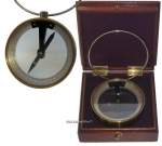 French Brass Vertical Dip Circle Compass.