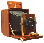 Zeiss Mahogany and Brass Folding Tropica Camera