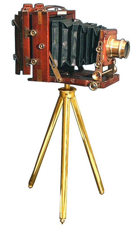 Lancaster Teak Wood Folding Instantograph 1900 Gilai