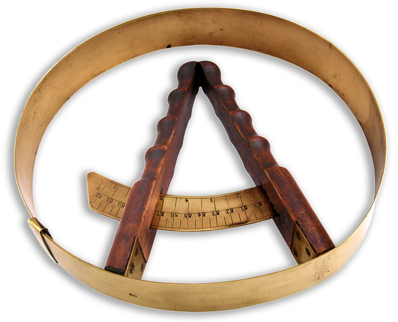French Hat Circumference Measuring Tool - click to enlarge.