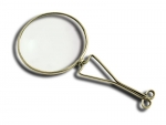 Small Nuremberg Magnifier Steel and Glass 19th Century