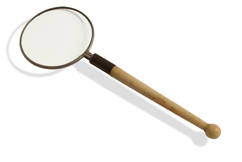 Small Bone Handled Magnifying Glass - click to enlarge.