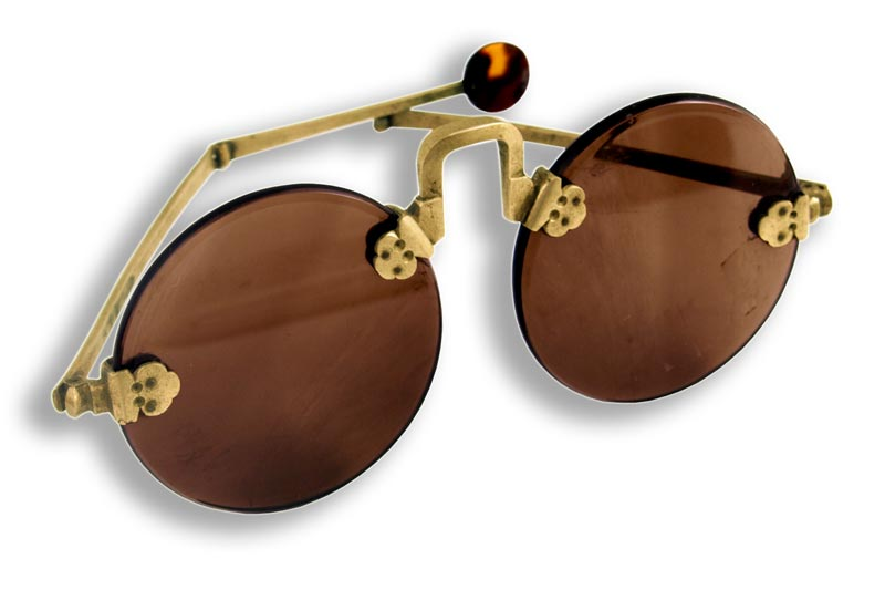Early 19th Century Rare Chinese Spectacles In Shagreen
