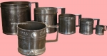 Set of 5 Tin Grain Measures