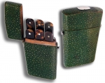 Shagreen Lancet Case with Six Lancets