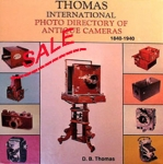 SALE Thomas International Photo Directory of Antique Cameras 1840...