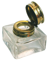 Small Glass Inkwell Clear - click to enlarge.