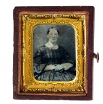 Ferrotype (Tintype) Of A Woman 19th Century