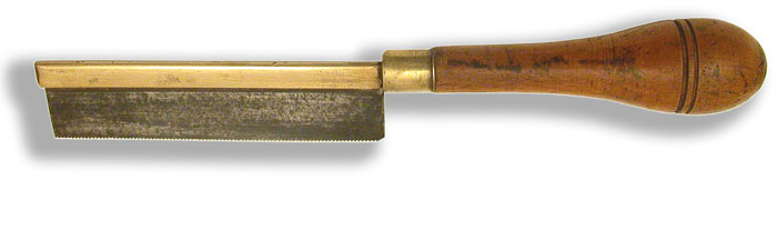 Tenon Saw with Turned Handle - click to enlarge.
