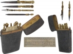 Shagreen Cased Drawing Instrument Set by Wellington.