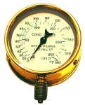 An Old Brass Methyl Chloride Pressure Gauge by Hall from...