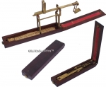 19th Century English Folding Brass Guinea Scale or Balance.
