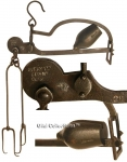 A 19th Century Steelyard Scale Balance For Weighing Bread...