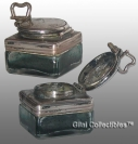 Square Glass Travelling Inkwell